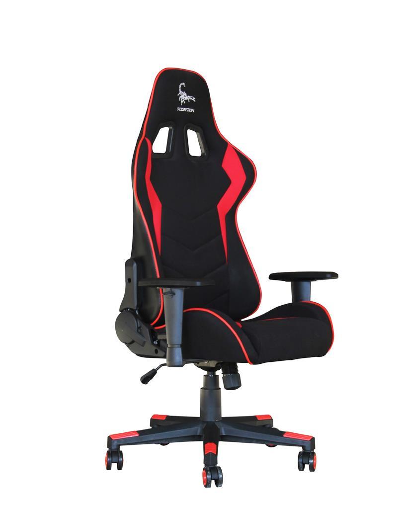 Gembird Gaming Chair SCORPION BlackRed Mesh GC