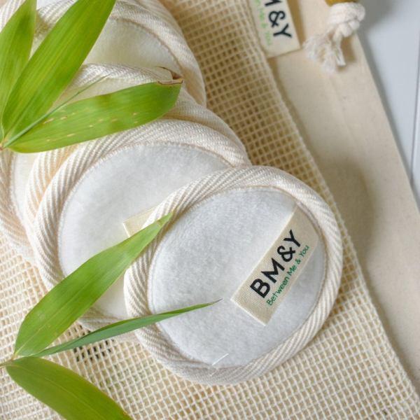 Reusable bamboo cotton pads