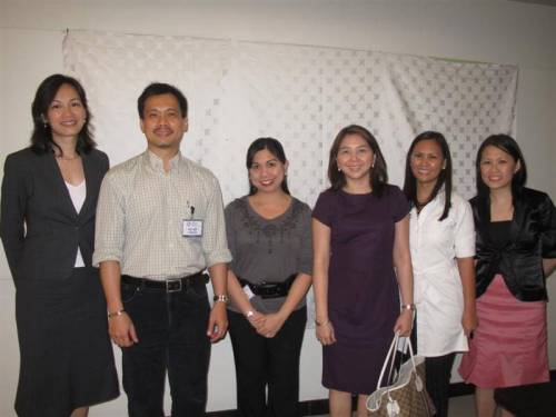 In this photo from left: Ms. Nina Patawaran, founder of Philippine Dictionary Project; Mr. Allan Tumbaga, BMAP president; Ms. Mary Ann Ducanes, BMAP treasurer, Ms. Mary Jean Ibuna, BMAP secretary; Ms. Amie Duhaylungsod, SODEXO account manager.