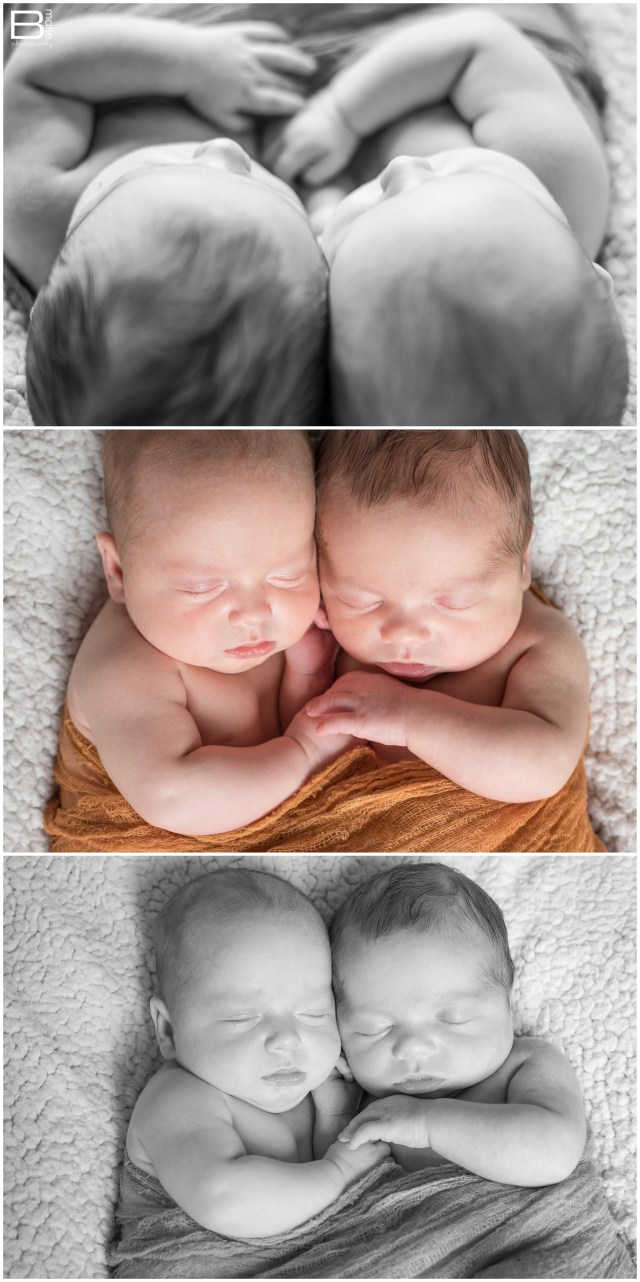 """Nacogdoches photographer """"newborn"""" portraits of 8 week old twin boys right before their original due date"""