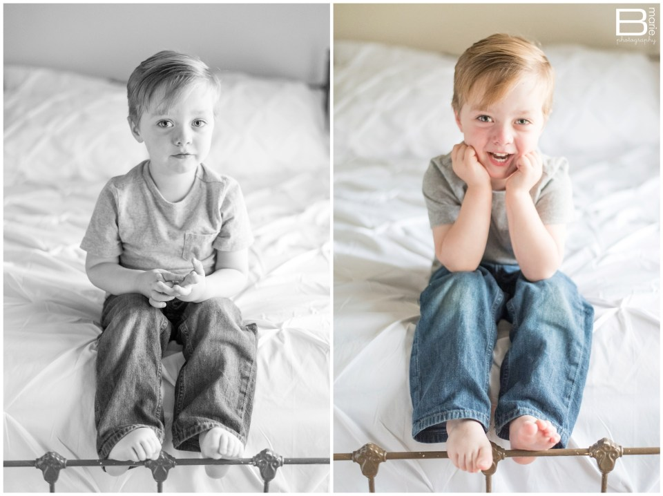 Nacogdoches photographer at home newborn session with baby boy and his two big brothers