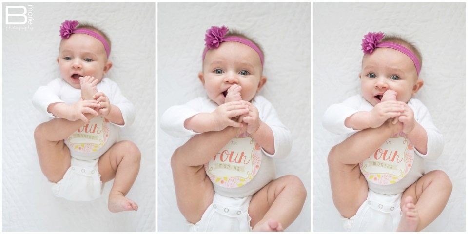 Nacogdoches photographer images of 4 month old daughter, Pumpkin