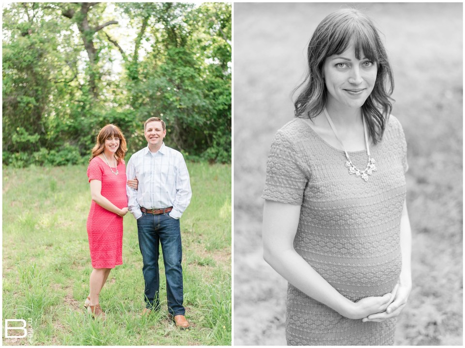 Kingwood Maternity Photographer - maternity session on ranch with two dogs