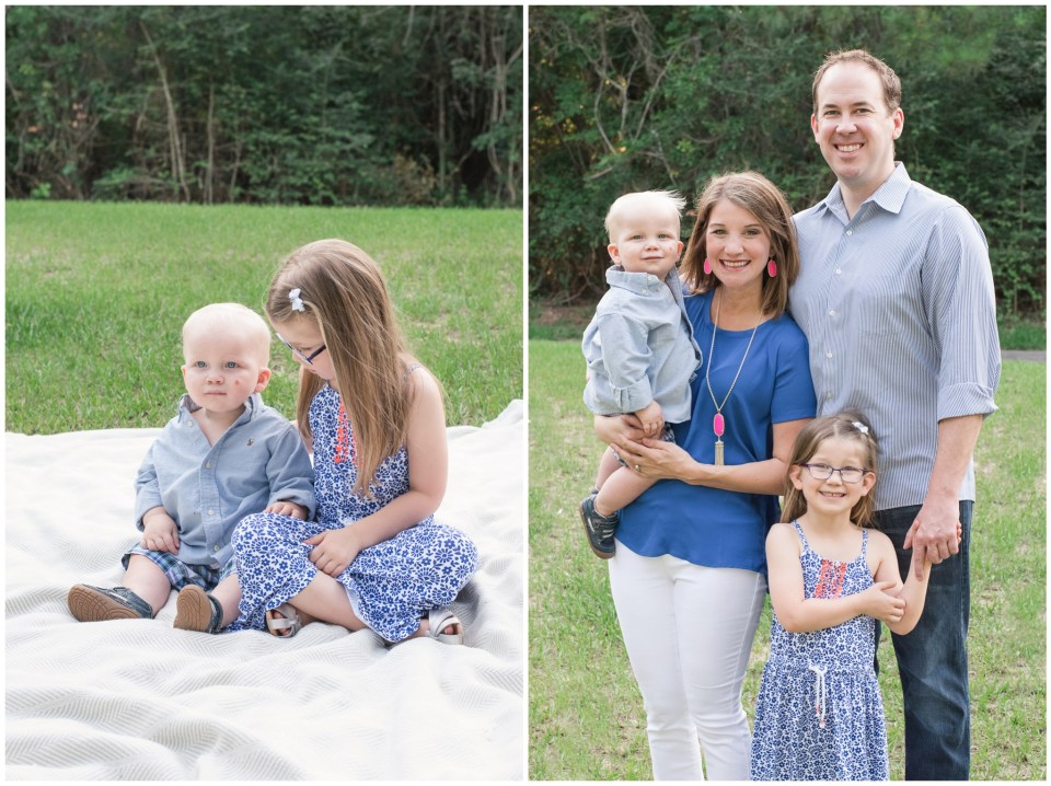 Kingwood family photographer session with three generations of one family