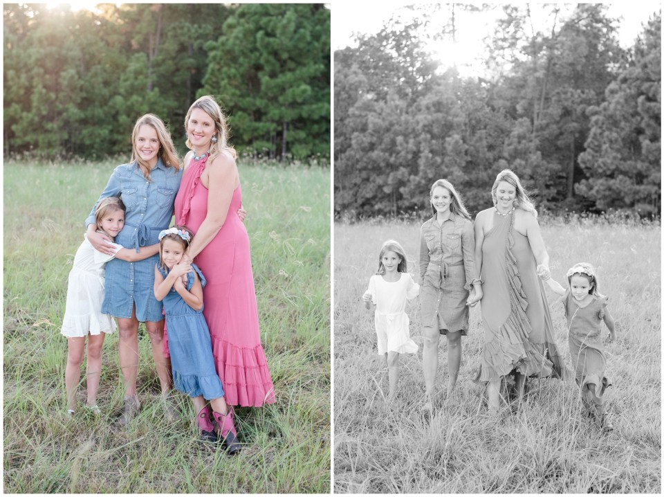 Kingwood family photographer family portrait session in Kingwood with four kids