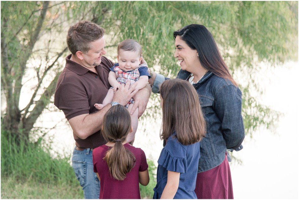 Kingwood photographer Little Ones session with 6 month old boy & family