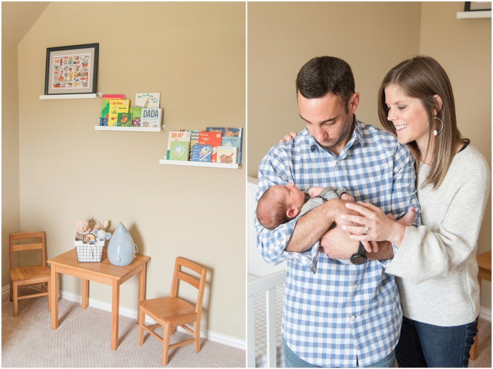 Kingwood photographer - at home lifestyle newborn portrait session for baby boy