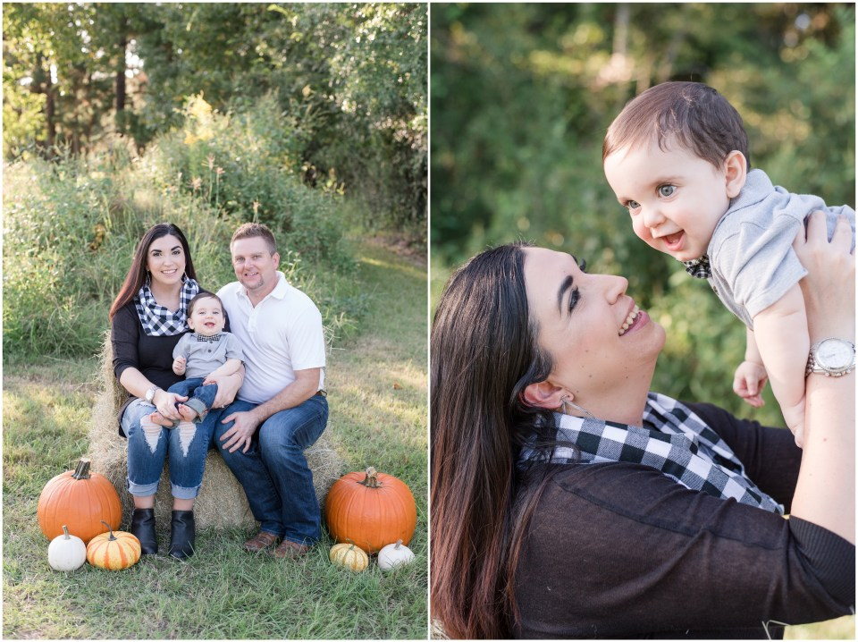 Kingwood photographer - 9 month milestone portrait session and fall family portraits