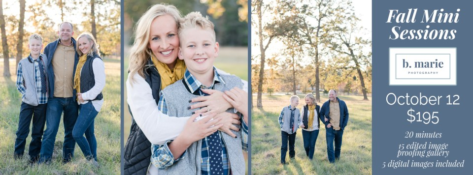 Kingwood photographer announces fall mini sessions available for Oct. 12