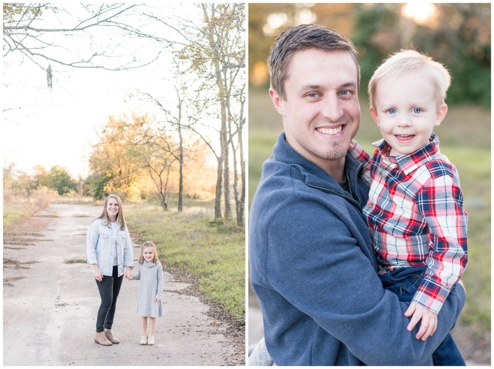 Kingwood photographer's fall family portrait session in Kingwood, Tx with family of four