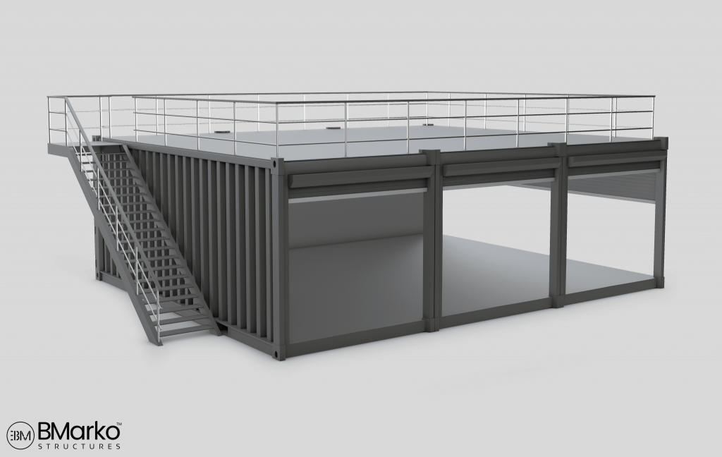 Shipping Container Restaurant With Rooftop 2