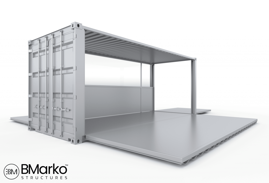 Shipping Container Vendor Stand 2