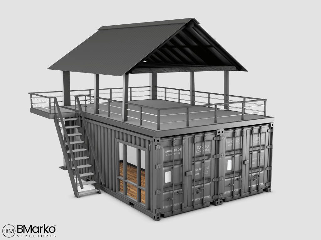 Shipping Container Restaurant With Rooftop 4