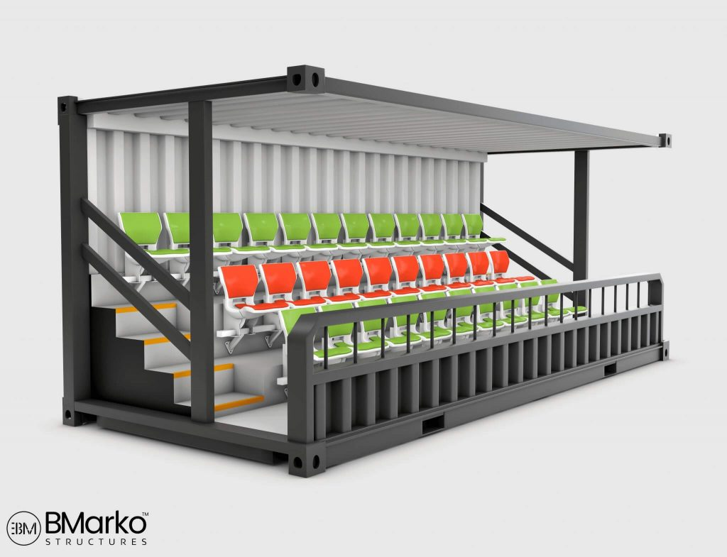 Shipping Container Stadium Seating