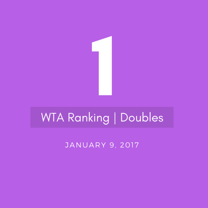 bethanie mattek-sands WTA Doubles World No.1
