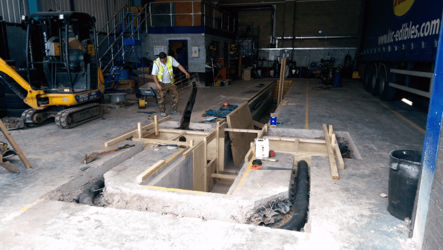 Cross Pit Installation