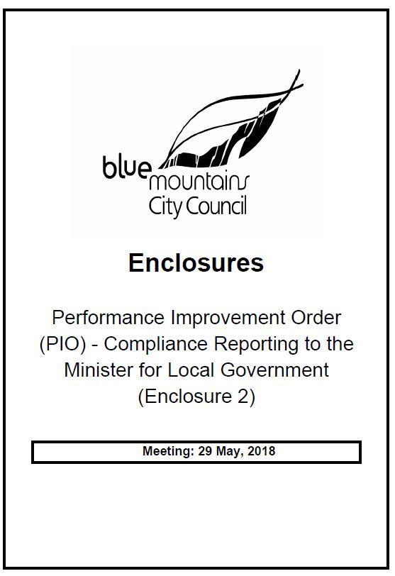2018-05-29 Council meeting: Enclosure to Item 1 Part 2
