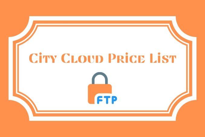 City Cloud Price List