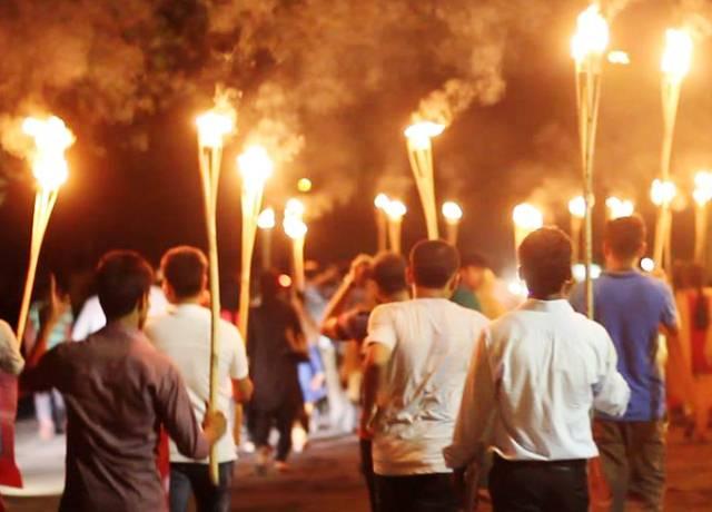 জার্মানির ইন্ডিসচেস উৎসবে 'দি পোস্টার'