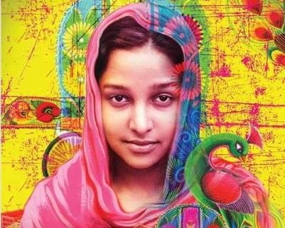 রিকশা গার্ল : ঝলমলে পোস্টারে সংগ্রামী নাঈমা, মুক্তি মার্চে