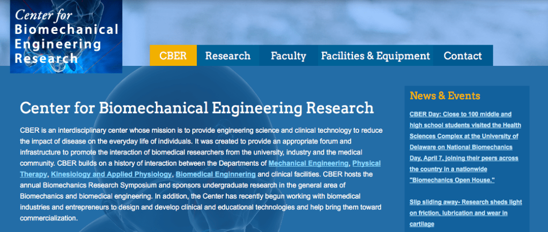 Center for Biomechanical Engineering Research