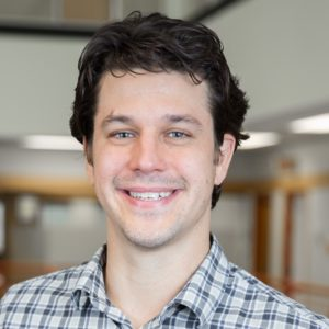 Publicity Photo of new faculty member, Joshua Cashaback