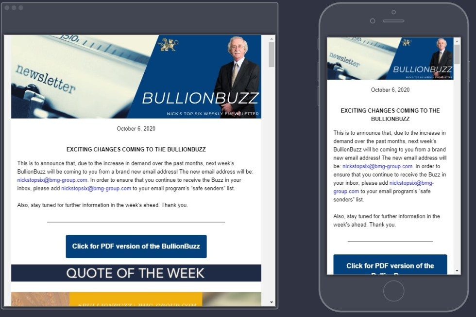 BullionBuzz | Nick's Top Six Preview