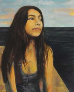 "Alina Fischer, Silver Key in Painting ""Portrait"""
