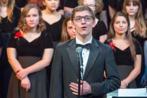 "Zack Rocklin-Waltch '17 performs ""A New Brain"" from the titular musical. Photo by David Barron."