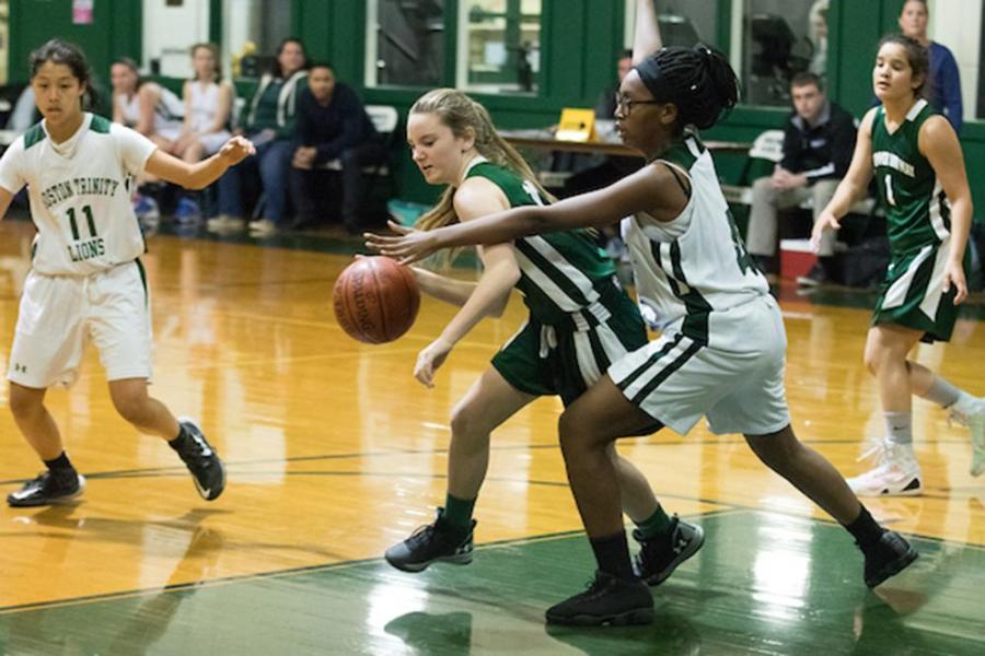 V. Girls' Basketball on Fire