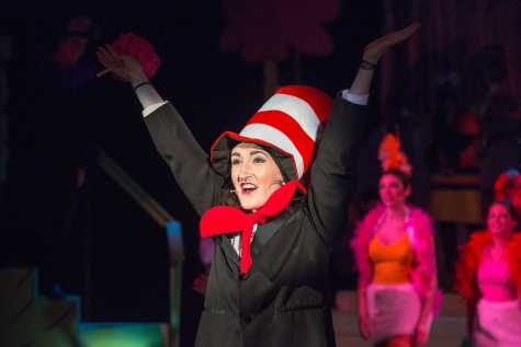 Kate Delaney '17 as The Cat in the Hat for the 2014 Upper School musical,
