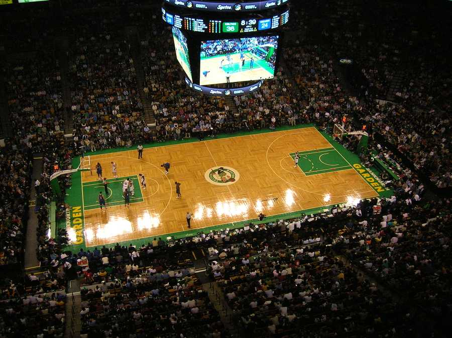 An NBA game at Boston's TD Banknorth Garden (home of the Boston Celtics). November 2007. ** Note: Slight blurriness, best at smaller sizes