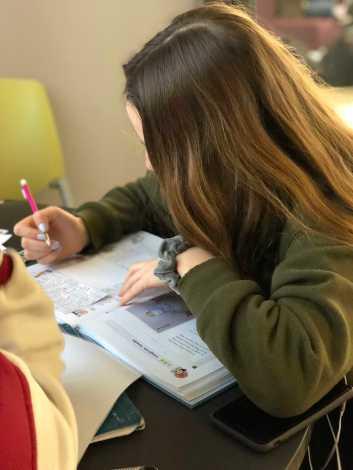 Kaitlyn Anderson '20 studies math.
