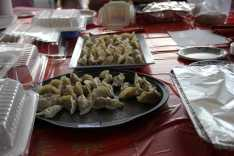 Delicious dumplings served at the Chinese Temple Fair. Photo by Caroline Ellervik '18.
