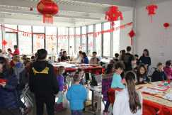 The community celebrates the Chinese New Year. Photo by Caroline Elervik '18.