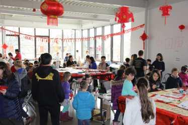 The community celebrates the Chinese New Year. Photo by Caroline Elervik '18.