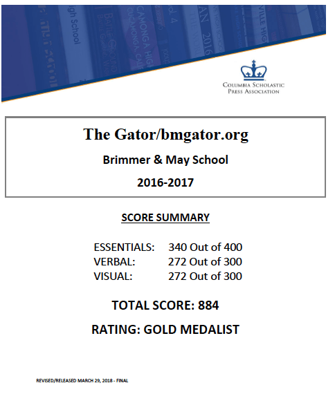With Appeal, Gator Wins CSPA Gold |