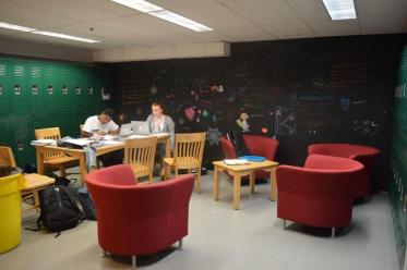 Last year's Senior Lounge. Photo by Caroline Ellervik '18.