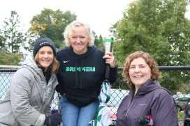 Lisa Hastings, Nancy Bradlee, and Jen Kunkel show their School spirit. Photo by Michelle Levinger.