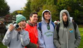 Students cheer on the boys' soccer team. Photo by Henry Ngo '19.