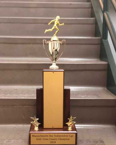 MBIL Girl's Cross Country 2018 trophy. Photo By Sita Alomran '19.