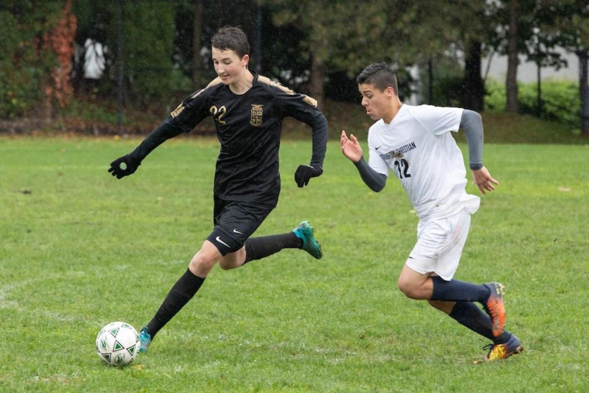 V. Soccer Makes School NEPSAC History