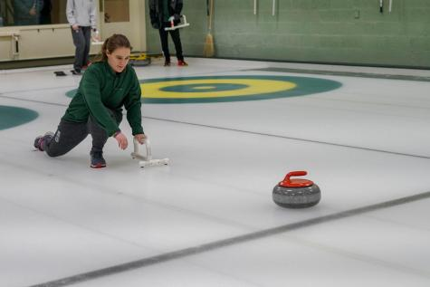 """I want to continue to develop my abilities in the sport while working on my own curling skills. I want all the curlers to enjoy coming to curling everyday and improve along the way."" — Curling Co-Captain Samantha Estrada '20"