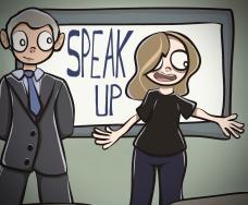 Cartoon by Ava Lockhard '21.
