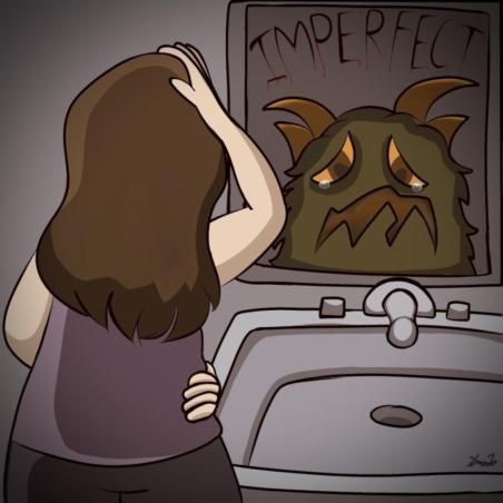 Cartoon by Ava Lockhart '21.
