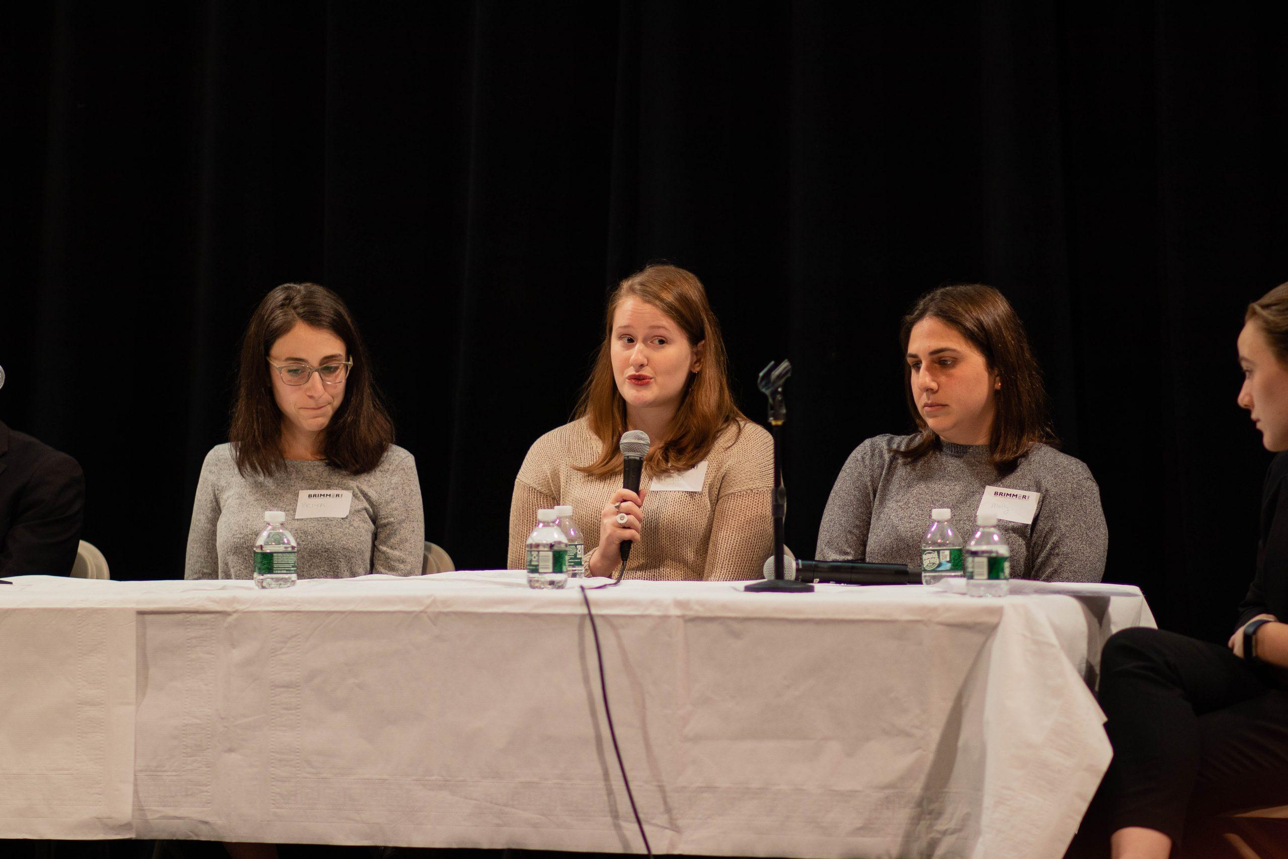 Alumni+spoke+on+a+panel+about+their+experiences+at+Brimmer.