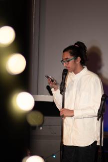 Neel Kumar '22 raps his new single.