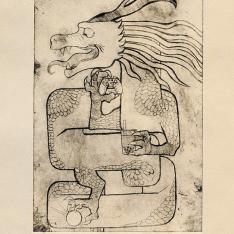 Sarah Min, Dragon, Printmaking, Gold Key