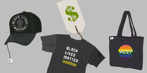 Black Lives Matter and Pride apparel for sale. Digital Illustration by Edan Zinn