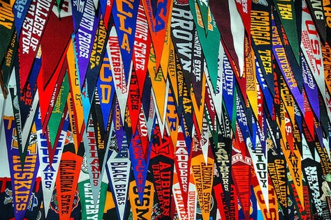 Banners in the college counseling office. Gator file photo.